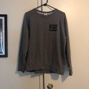PINK grey sweater